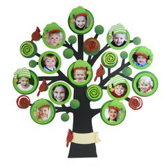 Our whimsical, decorative Family Tree  from Embellish Your Story features a spot for everyone's smiling face. Change out seasonal magnets for a festive year-round display!