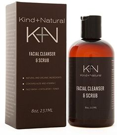 Mens Daily Power Scrub Facial Cleanser  8OZ  Face wash Toner and Scrub -- BEST VALUE BUY on Amazon