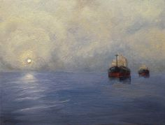 Ruben Monakhov. The Fog. Oil on canvas