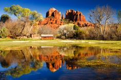scenic north america | Sedona, Arizona, USA - The view of Cathedral Rock. 101