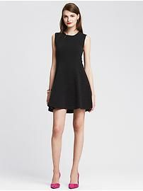 Fit-and-Flare Sweater Dress
