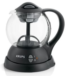 Krups personal tea kettle: Tea addicts will love being able to make an entire 1-liter batch at once and keep it warm with this electric kettle. A water circulation system infuses loose or bagged tea for a perfect blend.