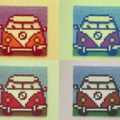 VW coasters hama beads by celia_efe