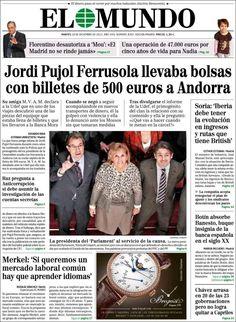 Una exnovia de Jordi Pujol Jr. le acusa de llevar bolsas con billetes de 500 euros a Andorra  Declaración ante la Policía de la 'amiga' del 'hereu' filtrada por 'El Mundo': la agredió cuando ella se negó a viajar con él