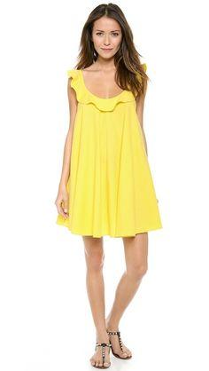 Yellow sundress.