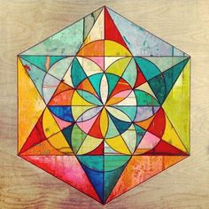 A Mandala - a geometric figure representing the universe in Hindu and Buddhist symbolism. #art #sacred #geometry