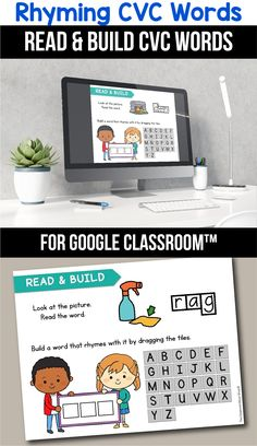 Looking for ideas for the google classroom for your kindergarten, first grade or special education kids? These activities are perfect for teachers to use in the classroom or for parents to use for homeschool. These CVC rhyming word activities for beginners replace old and outdated worksheets. You can use them while distance learning to make learning CVC words with pictures, short a, short e, short i, short o or short u easier. #googleclassroom #rhymingwords #digitallearning #distancelearning Interactive Activities, Easter Activities, Teaching Activities, Teaching Ideas, Classroom Resources, Classroom Decor, Teacher Resources, Rhyming Worksheet, Alphabet Worksheets