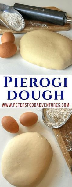pierogi recipe The perfect dumpling dough recipe for to make Pierogi dough, Vareniki dough, Pelmeni dough, Pirohy or Derelye dough. A simple classic dough recipe. Slovak Recipes, Ukrainian Recipes, Russian Recipes, Ukrainian Food, Canadian Recipes, Russian Foods, Japanese Recipes, Meat Recipes, Gastronomia