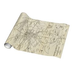 Vintage Map of Rome Italy (1821) Wrapping Paper $16.95