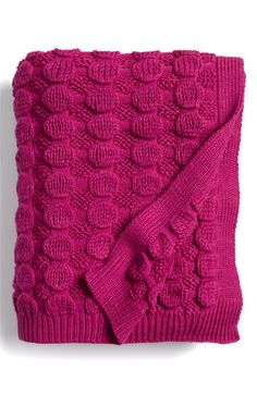 Bubble Knit Blanket - would be easy to knit up.