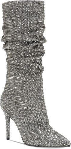 cc96f533899e Jessica Simpson Layzer Slouchy Rhinestone Boots - Black 5.5M