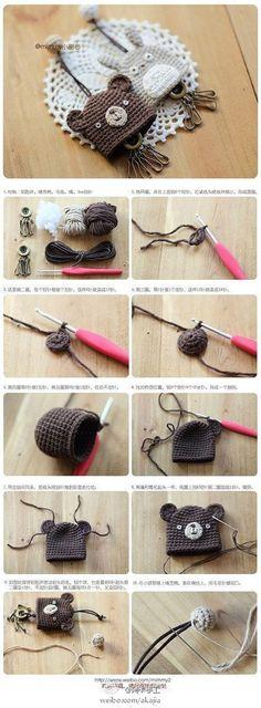 lovely crochet key ring