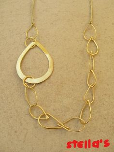 Handmade goldplated chain. Un...chain my heart collection!