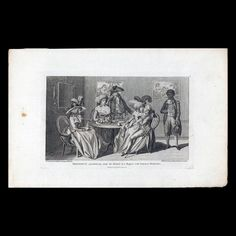 Frederick squandering away his fortune at a bagnio, with common prostitutes, August 31, 1787, Colonial Williamsburg, 1959-83,4