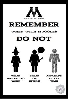 Ministry of Magic Advice Poster
