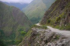 Mountain road in Machu Picchu