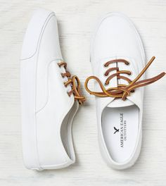 White  AEO Lace Up Sneaker