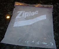 To make your own shapeable ice pack:   Mix 1 part rubbing alcohol with 3 parts water in a ziploc bag and put in the freezer.   (The alcohol will prevent the water from freezing completely.)  When it's frozen, wrap with a towel or cloth of some sort and apply.