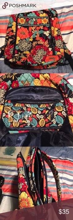 Very Bradley backpack Vera Bradley happy snails LAPTOP backpack barely used Vera Bradley Bags Backpacks