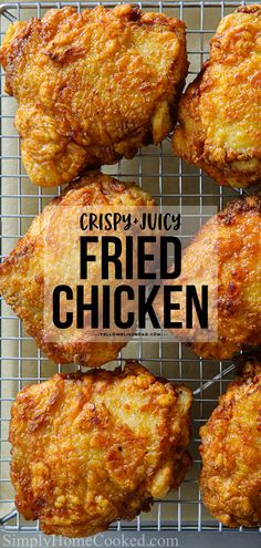 These Fried Chicken Thighs have a golden, crunchy breading with a juicy flavorful center. This easy chicken recipe is sure to become a family favorite! Fried Chicken Thigh Recipes, Best Fried Chicken Recipe, Making Fried Chicken, Crispy Fried Chicken, Best Chicken Recipes, Fried Chicken Thighs Boneless, Recipes With Chicken Thighs, Chicken Theighs, Best Chicken Thigh Recipe