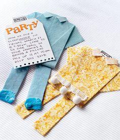 How to make origami invitation pajamas