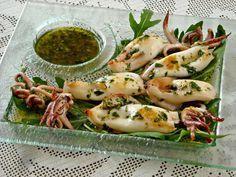 Calamari alla griglia con salsina aromatica