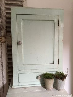Hangkastje, blauw/groen