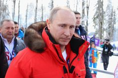 Vladimir Putin Photos Photos - Russian President Vladimir Putin is seen on day eight of the Sochi 2014 Paralympic Winter Games at Laura Cross-country Ski & Biathlon Center on March 15, 2014 in Sochi, Russia. - 2014 Paralympic Winter Games - Day 8