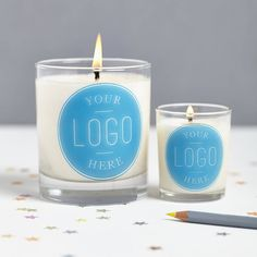 personalised scented company candle by hearth & heritage scented candles | notonthehighstreet.com