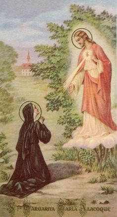 Saint Margaret Mary Alacoque - The saint of the Sacred Heart of Jesus! Saint Margaret Mary, Pray for Us!