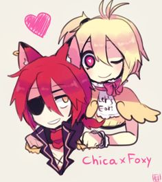 not all about mangle with foxy but im fine with chica with foxy im sory to mangle fans