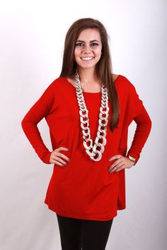 Piko Top in dark red, $29.99 http://www.shoppage6.com/products/piko-top
