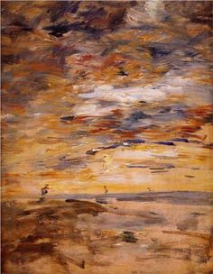 Sky at Sunset - Eugene Boudin