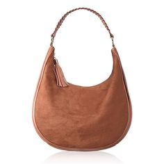 #Avon #Faux-Suede Hobo. We've taken the tranquil blues of desert skies, the varied crimsons from the canyons of Nevada and the dusty neutrals of the Apache Trail to bring you an exclusive collection designed expressly to mix and match.  You'll get so hooked on the cognac-colored hobo that it will be impossible to let go. Reg. $34.99. #CJTeam #Style #Sale #Fashion #New #C1 #NewSouthWest #HoboBag #Trending #Bag Shop Avon Mark fashion online @ www.TheCJTeam.com