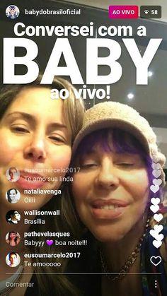 BONECOS DO BABY: Baby do Brasil interrompe papo no Instagram Storie...
