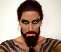 Khal Drogo. | This Makeup Artist Transformed Herself Into Four Game Of Thrones Characters