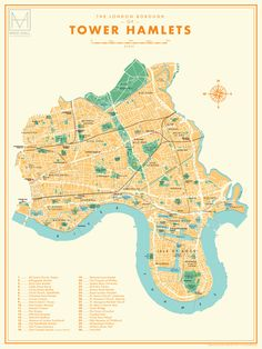New London Borough map series (updated) on Behance London Borough Map, Central London Map, International Map, London Underground Stations, Village Map, University Of Westminster, Tower Hamlets, Isle Of Dogs, London Landmarks
