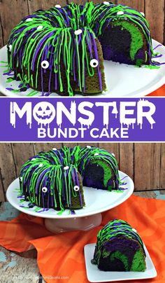 New Snap Shots Halloween Monster Bundt Cake. This is easy to make and about the coolest Hallowe. Tips Halloween Monster Bundt Cake. This is easy to make and about the coolest Halloween dessert ever! Halloween Tags, Dessert Halloween, Halloween Food For Party, Halloween Cupcakes, Holidays Halloween, Halloween Recipe, Easy Halloween Desserts, Holloween Cake, Halloween First Birthday