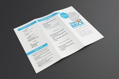 Tri-fold Brochure for One Brick Info Session on Behance