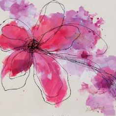 Beautiful flower in magenta. Wall art by Surya (RWL-3060)