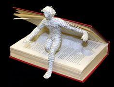I love paper art so much! Folded Book Art, Book Folding, Altered Book Art, Book Images, I Love Books, Art Plastique, Book Crafts, Art Lessons, Paper Art