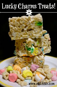 Lucky Charms Treats Recipe {For St.Patrick's Day!}