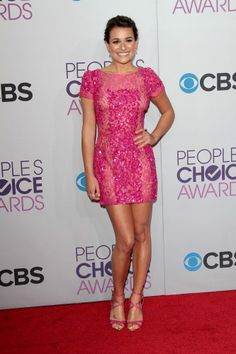 Lea Michele pink sequin dress!
