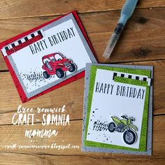 Birthday Cards For Boys, Masculine Birthday Cards, Masculine Cards, Boy Birthday, Happy Birthday, Boy Cards, Kids Cards, Men's Cards, Up Auto