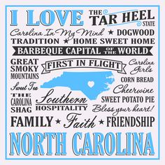 I Love North Carolina Sign