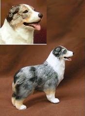 "Australian Shepherd dog figurine 4¾""x1½""x4½"" $60"