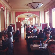 Café Louvre - favourite with Kafka and Einstein, and serves a fabled hot chocolate you can stand a spoon up in.