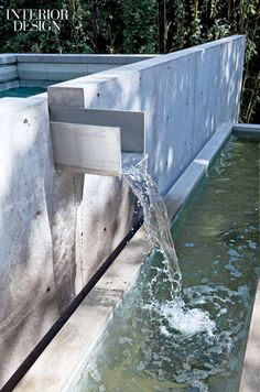 Metal scupper and concrete pool by AC Martin & Partners, LA