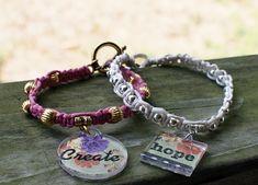 Beaded Macrame Charm Bracelets Tutorial — Saved By Love Creations
