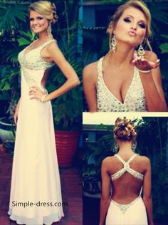 2016 long prom dresses, pearl pink long prom dresses with cross back, beaded v-neck mermaid ball gown with backless
